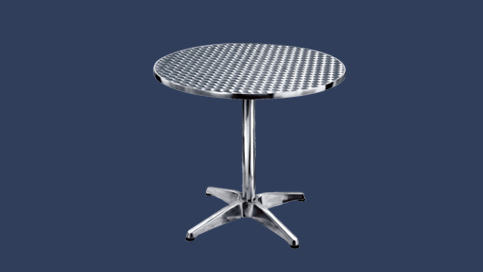 Pr 71. In Stainless Steel Furniture